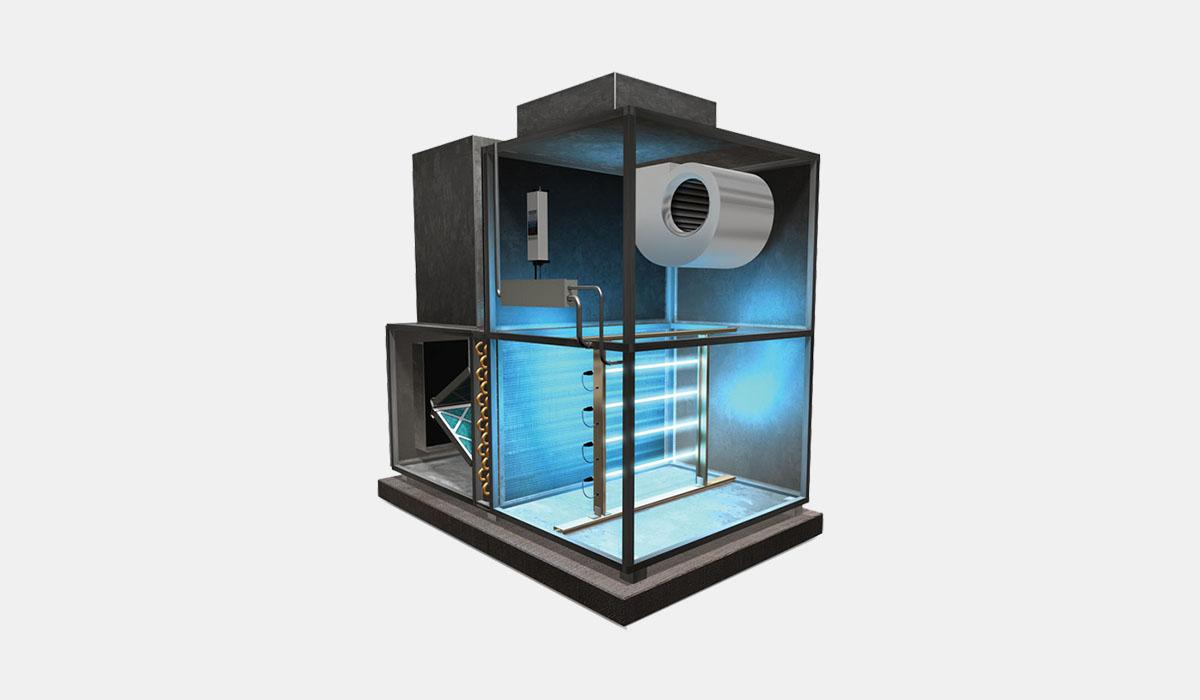 λύσεις uvc απολύμανσης αέρα - κλιματισμού