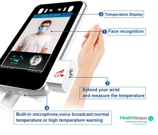 Κάμερα Ελέγχου Θερμοκρασίας Μέτρησης Καρπού